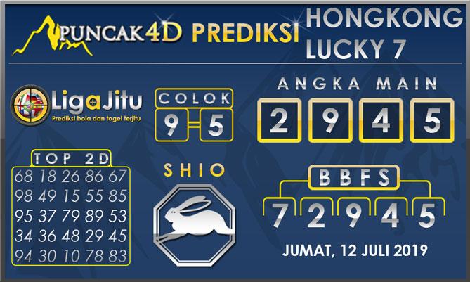 PREDIKSI TOGEL HONGKONG LUCKY7 PUNCAK4D 12 JULI 2019