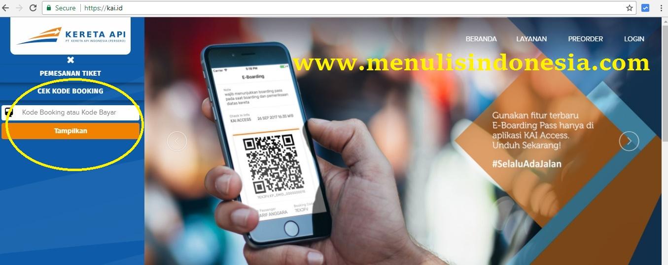 cara cek kode booking tiket kereta api menulis indonesia rh menulisindonesia com