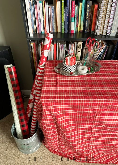 Make a Christmas gift wrap station in your house