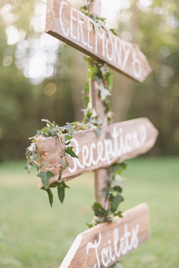 Carteles DIY para boda, señales de madera hechas a mano