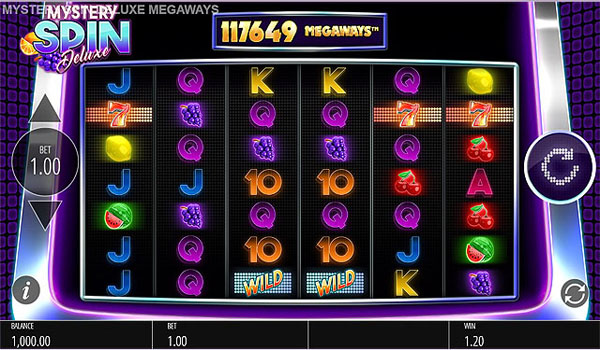 Main Gratis Slot Indonesia - Mystery Spin Deluxe Megaways (Blueprint Gaming)