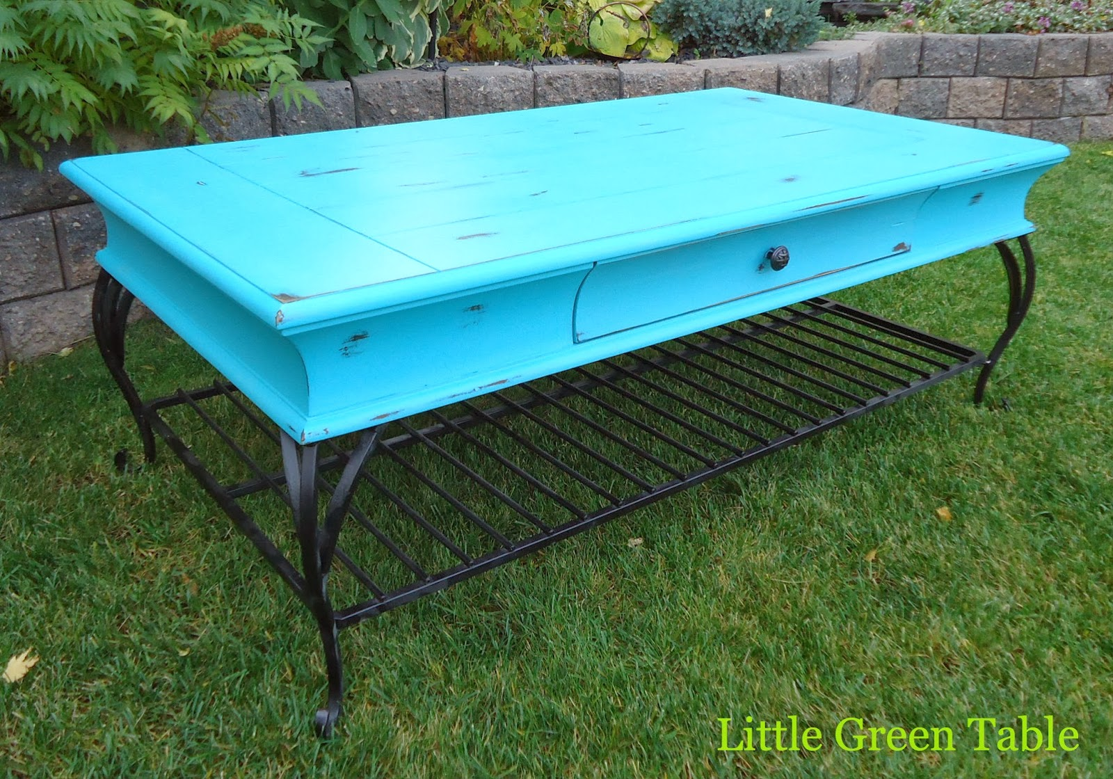 Turquoise Coffee Table | Little Green Table...
