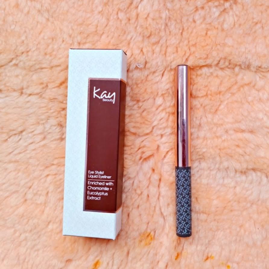 Liquid, eyeliner, Kay Beauty, brown