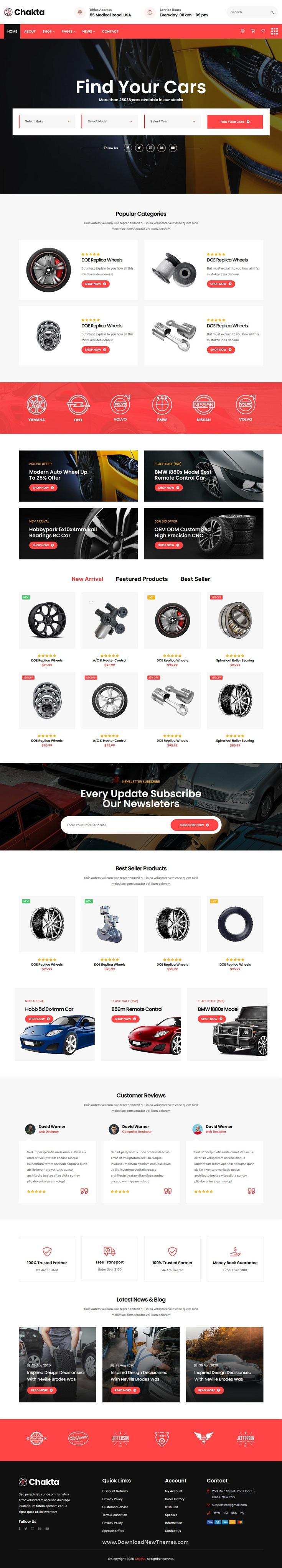 Auto Parts Shop HTML Template