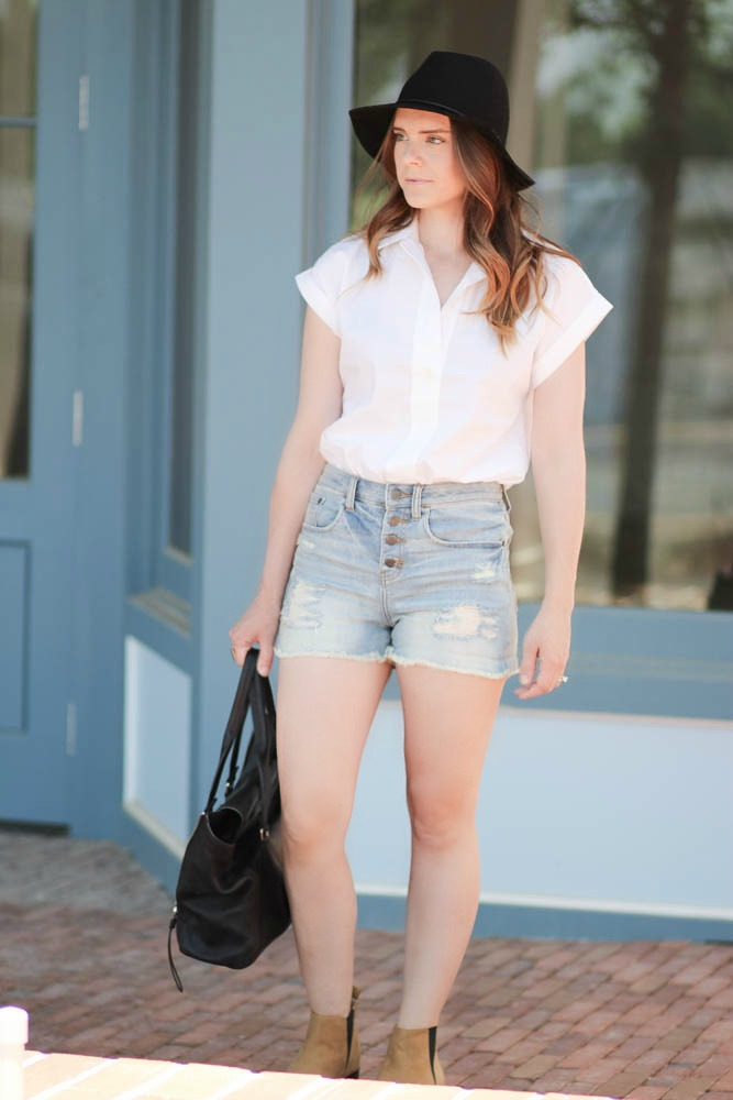 High waist shorts for summer