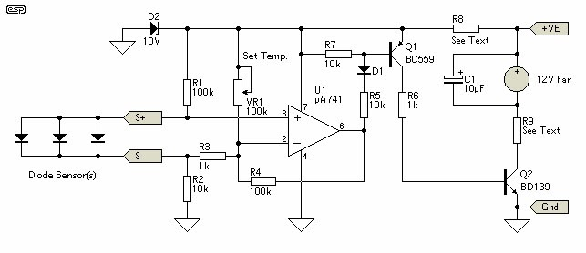 Schematic Diagram: Thermal Fan Controller