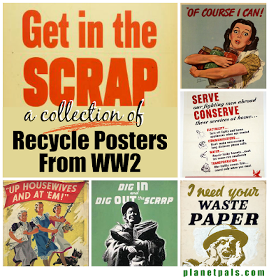 A Unique Collection of US WW2 Poster for the Conservation and Recycle Efforts