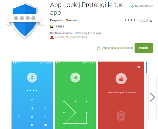 App Lock | Proteggi le tue app screen-shot