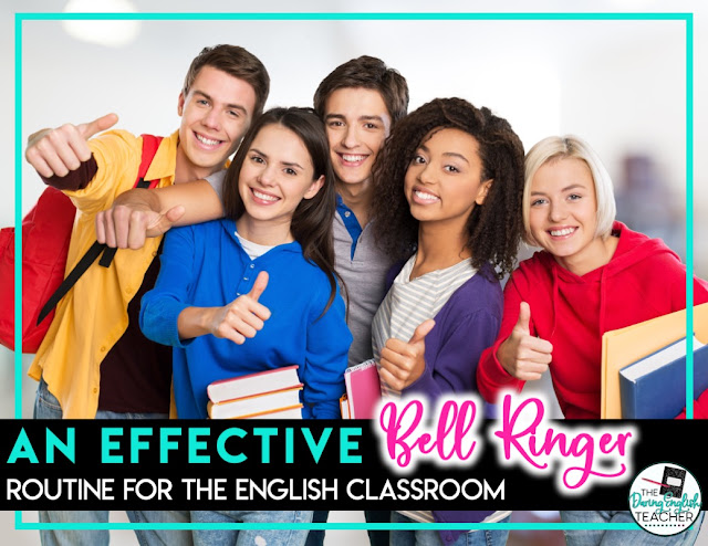 An effective bell ringer routine for the secondary ELA classroom