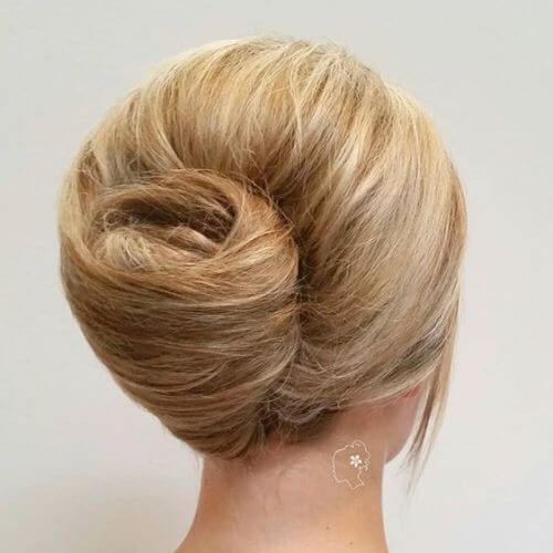 messy updos for long hair, french twist updo
