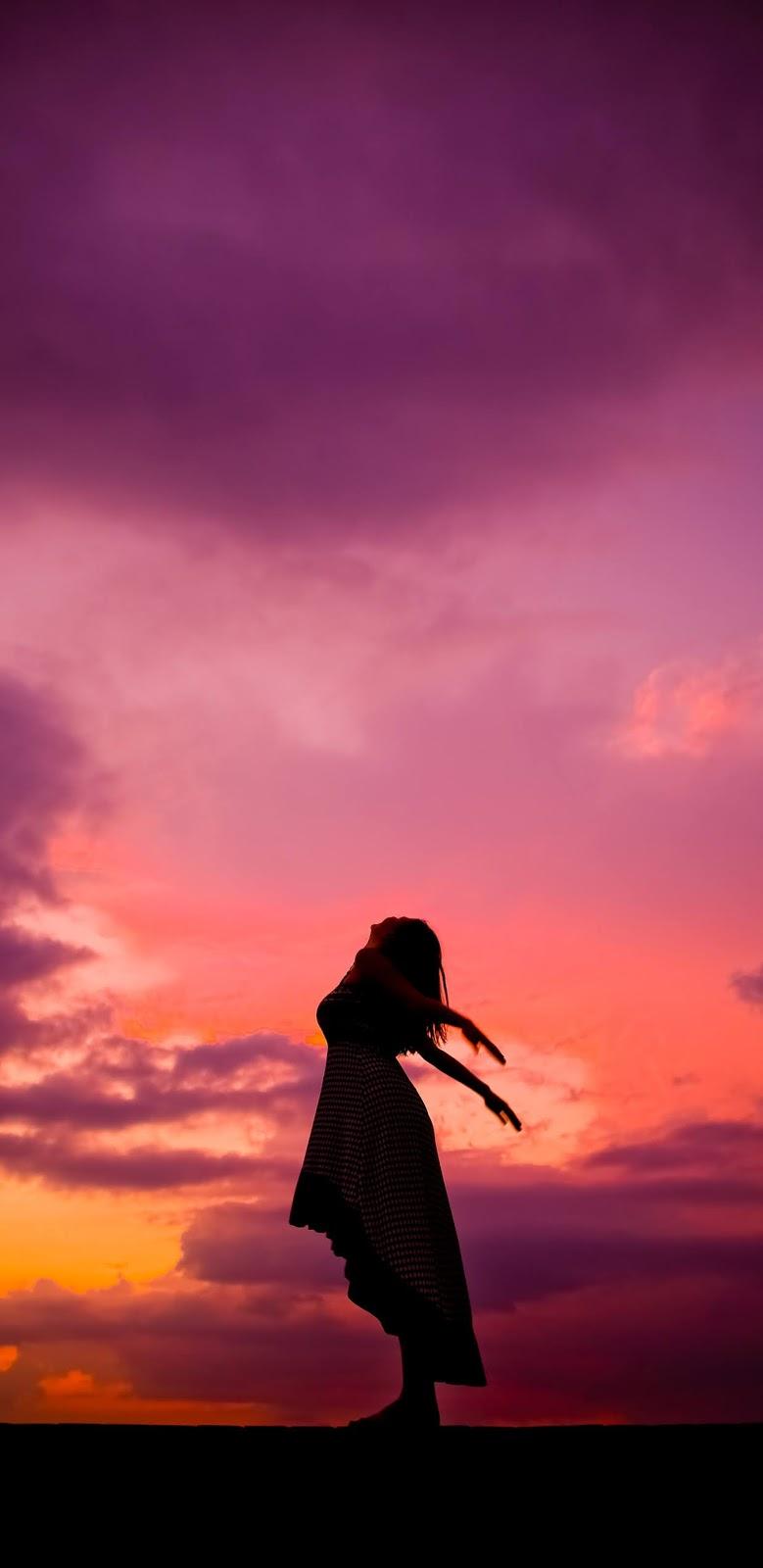 Bầu trời hoàng hôn đẹp tuyệt vời