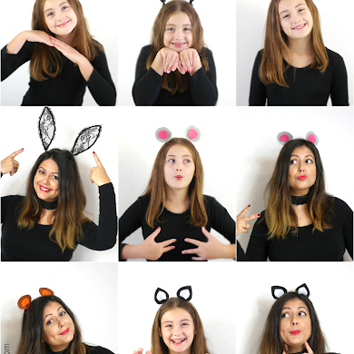 DIY Animal Ear Headbands for Halloween