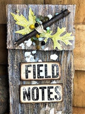 Sara Emily Barker http://sarascloset1.blogspot.com/ Field Notes Mini Album 3D Texture Fade Lumber 2
