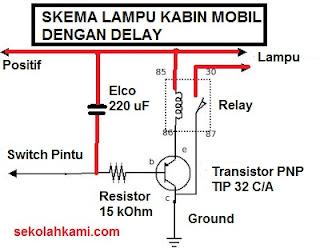 skema lampu kabin mobil