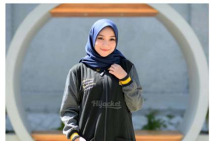 HIJACKET ORIGINAL Hijacket Qadira HJ-QD Raven Grey Hitam Abu Tua