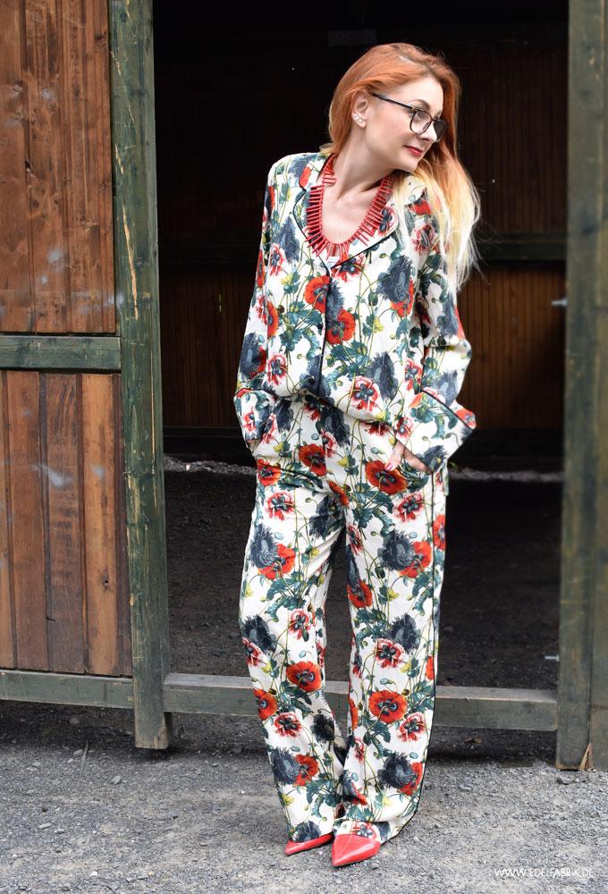 Pyjama mit Blumenmuster von H&M