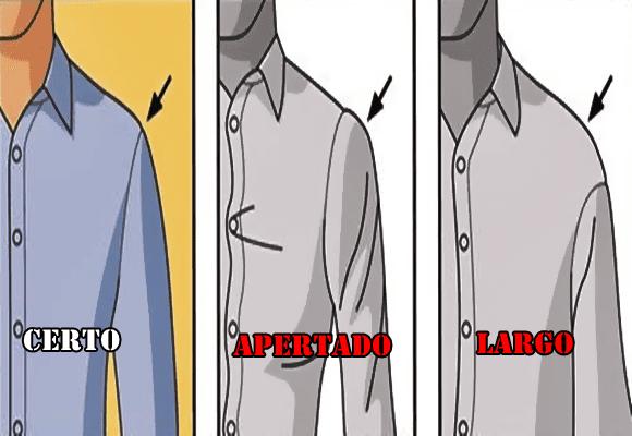 Elegância-camisa-ombro