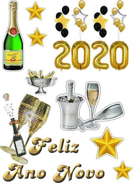 Welcome 2020: Free Printable Cake Toppers.
