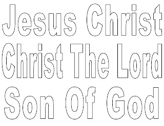 jesus christ bubble letters