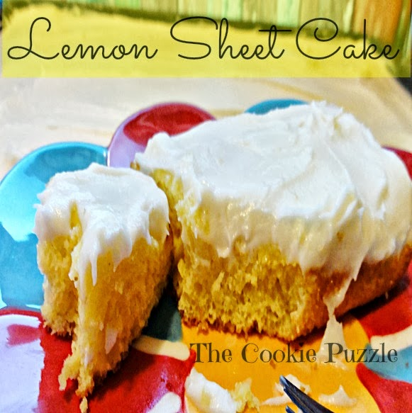 The Cookie Puzzle Lemon Sheet Cake