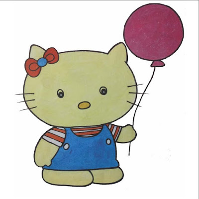 hello kitty drawing for kids