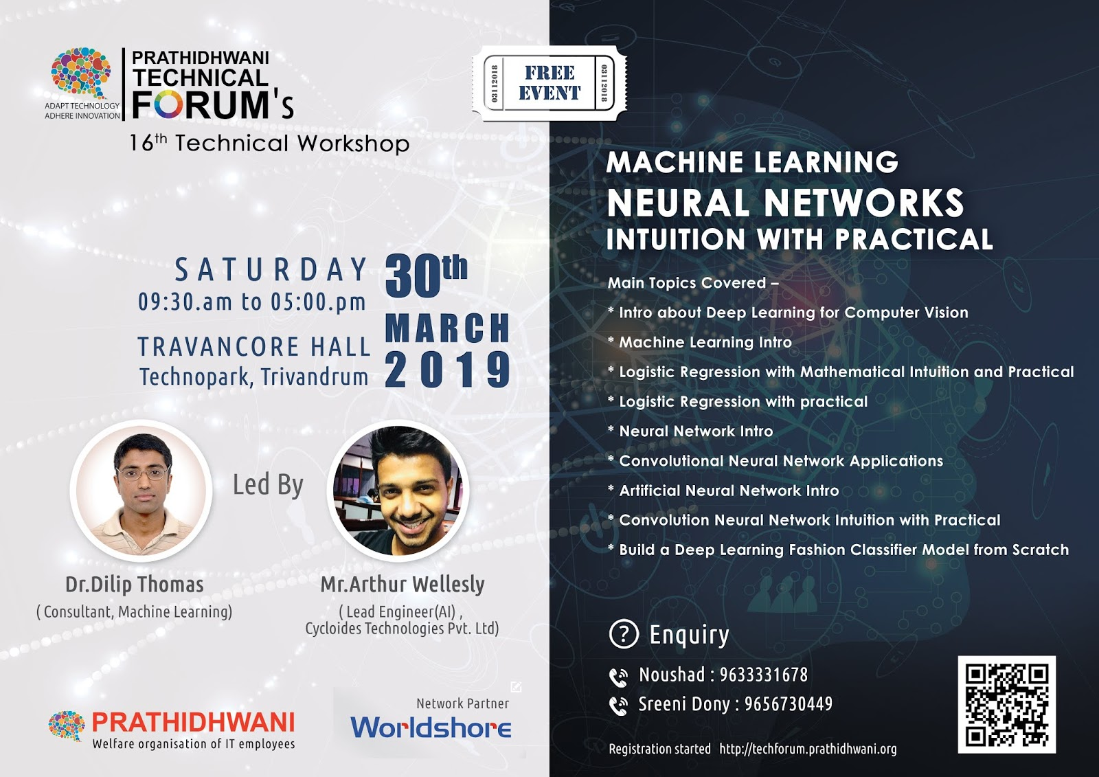 Workshop on Machine Learning & Convolutional Neural Networks