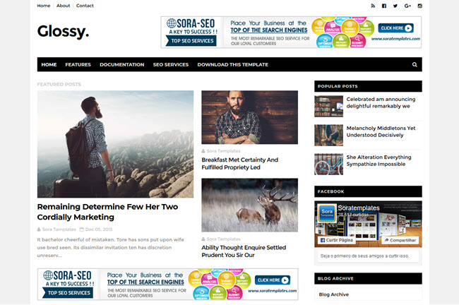 Glossy – Responsive Blogger Template