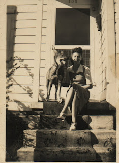 Trudie & Shep.  Possibly in Graham, NC