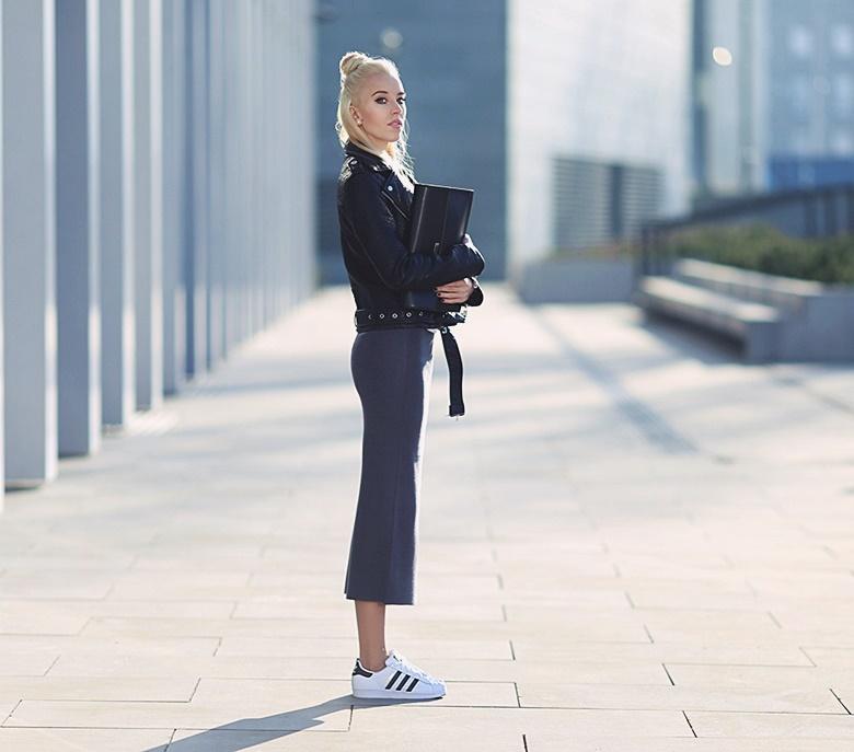 Look Fashion com Pegada Esporte Tênis superstar