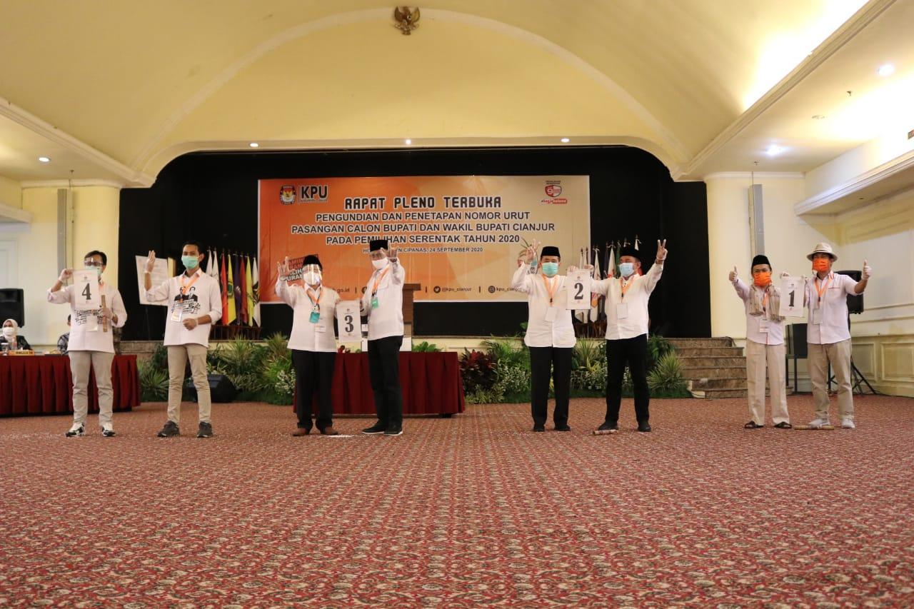 4 Paslon Pilkada Cianjur 2020 Sudah Ditetapkan KPU Cianjur