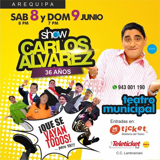 Carlos Alvarez en Arequipa - 8 y 9 de junio