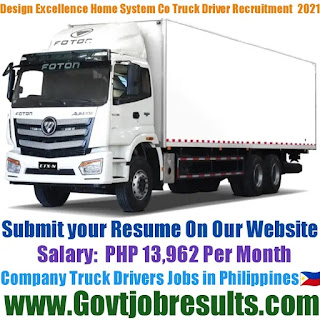 Design Excellence Home and Office System Co Company Truck Driver Recruitment 2021-22