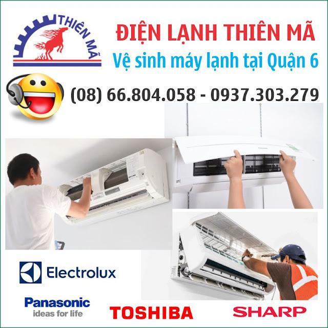Dịch vụ vệ sinh máy lạnh uy tín chất lượng tại quận 6