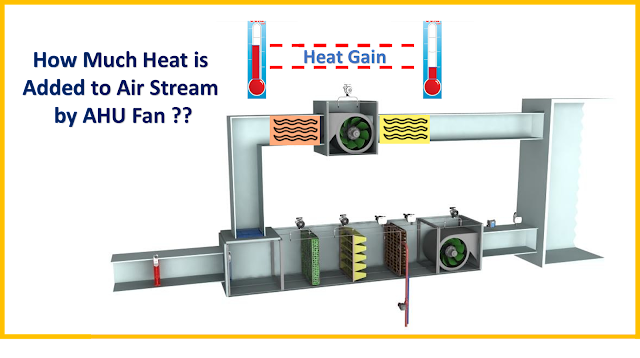 Do you know how much heat is getting added up to the air stream through AHU fan ?