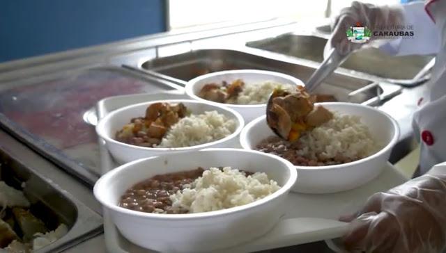 Convênio entre Estado e Prefeitura de Caraúbas distribui 450 refeições diárias à famílias carentes durante Lockdown