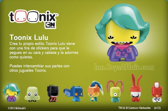 Cartoon Network Create Your Own Toonix Happy Meal Toys