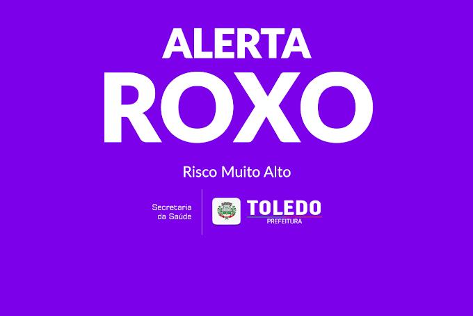 Toledo entra em bandeira Roxa após análise das últimas semanas epidemiológicas