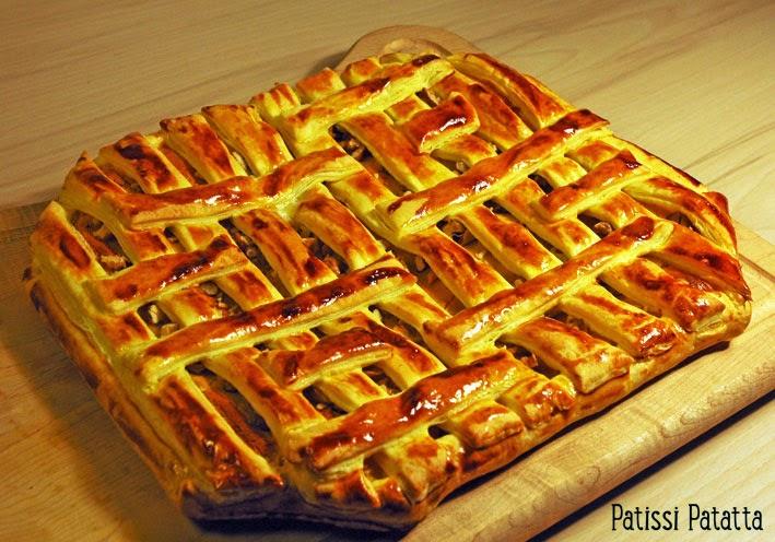 recette de feuilleté roquefort et noix, roquefort walnut pie, tourte roquefort et noix