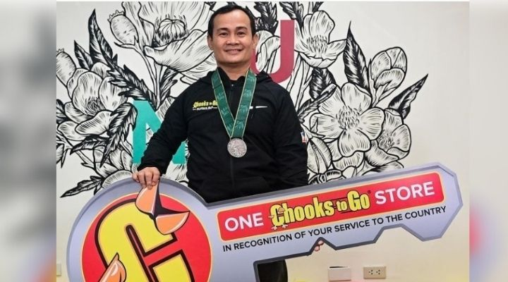 Onyok Velasco is now a proud owner of a Chooks-to-Go branch