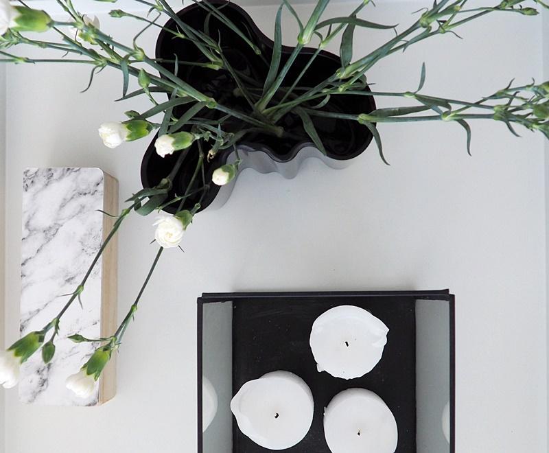white livingroom details