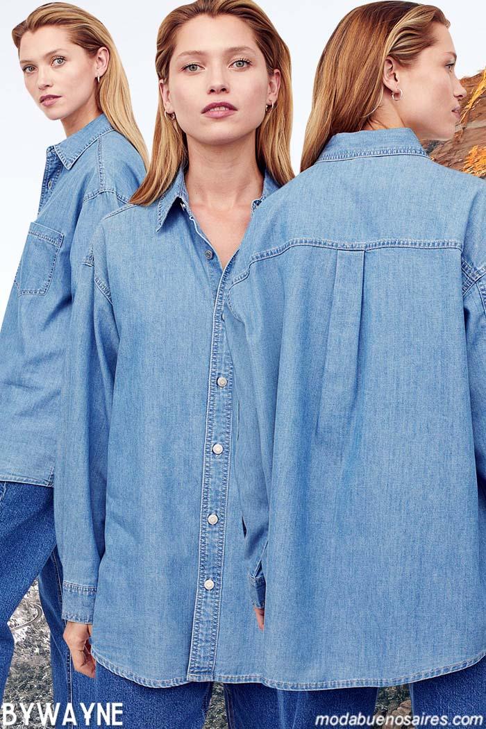Camisas de mujer H&M otoño invierno 2021 jeans