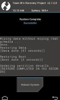 Cara Backup dan Restore Rom di TWRP