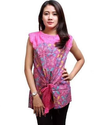 Pakaian Batik Kombinasi Polos Terbaru