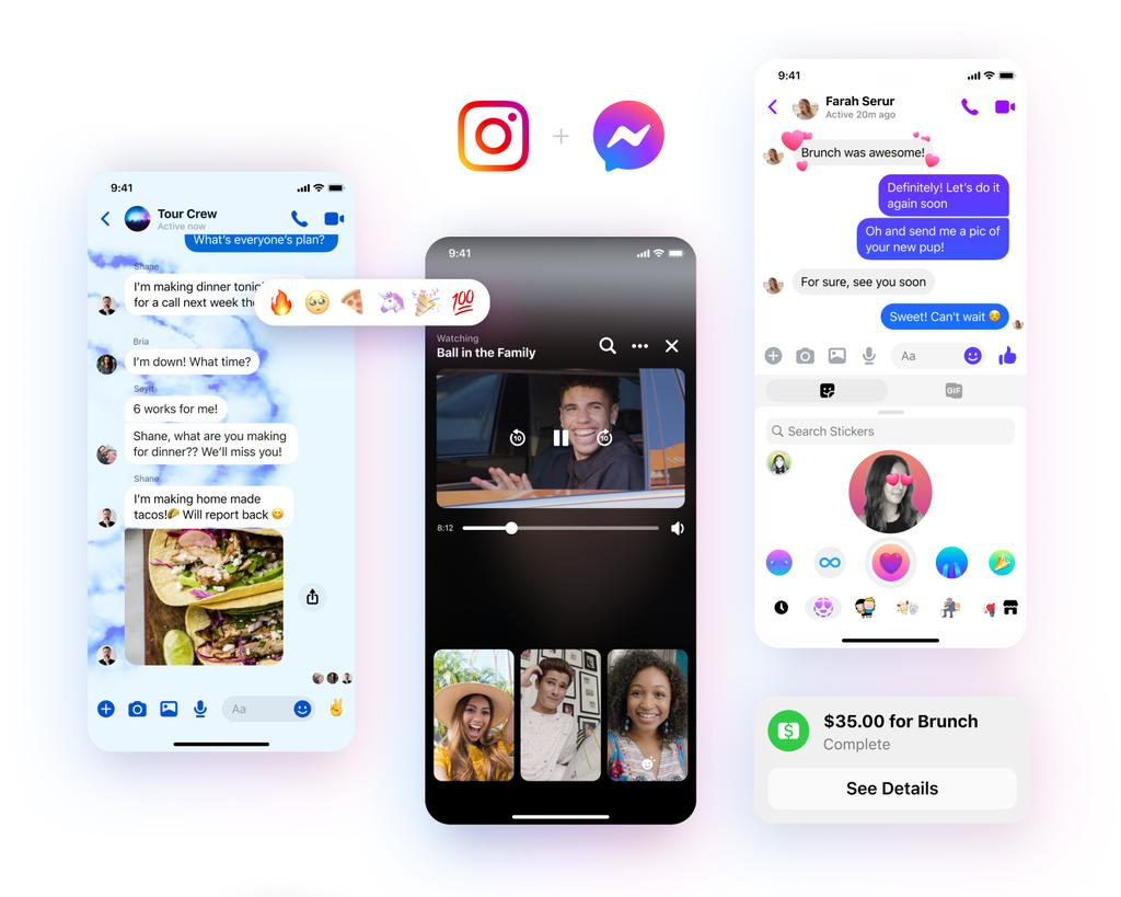 Facebook annuncia il nuovo look di Messenger
