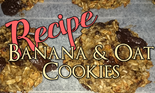 Recipe: Banana, Oat and Chocolate Chip Cookie