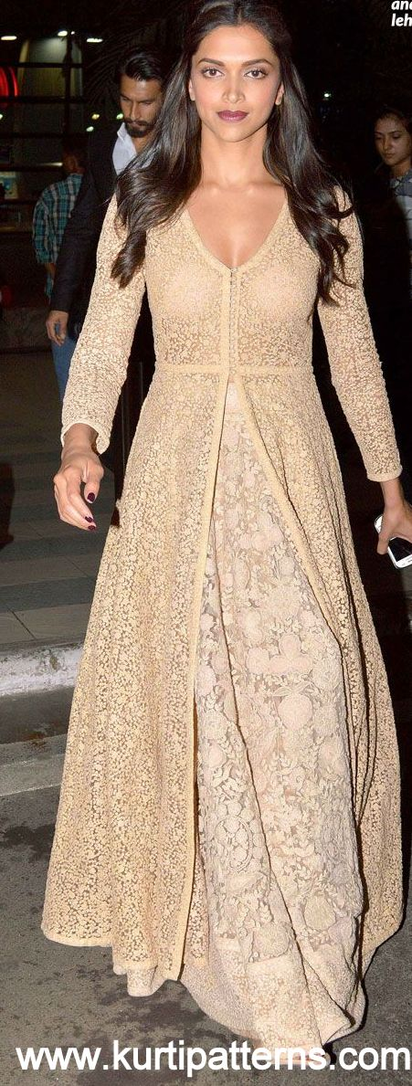 Dress No. 5 - Deepika Padukone Chikankari Anarkali
