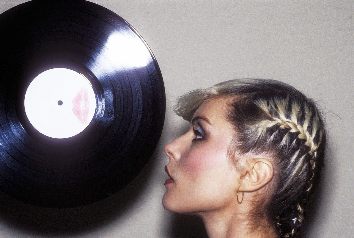 Debbie Harry Of Blondie Licking The Edge Of A 12 Inch