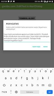 Cara membuat Edit  Text di dalam Alet Dialog