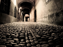 Stone Paving Street Night Lighting Hd Wallpaper