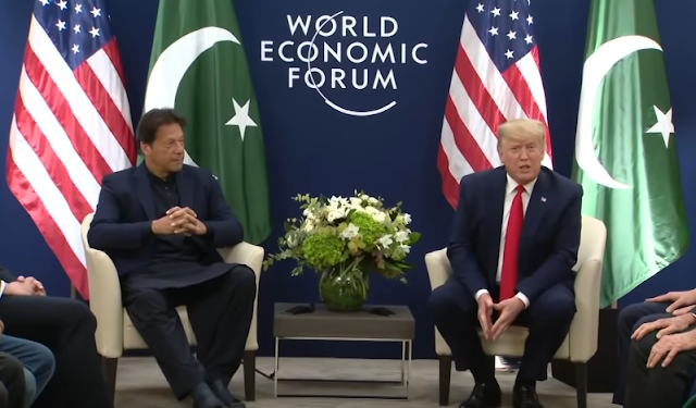 PM Imran Khan meets Trump at the world economic forum
